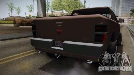 GTA 5 Bravado Bison IVF для GTA San Andreas вид сбоку
