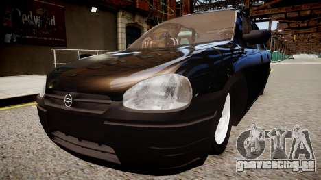 Chevrolet Corsa Hatch для GTA 4 вид сзади слева