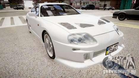 Toyota Supra MKIV 1995 для GTA 4 вид справа