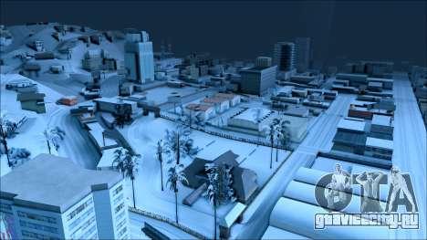 Новый зимний мод для GTA San Andreas четвёртый скриншот