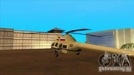 Вертолет полиции РФ для GTA San Andreas вид сзади слева