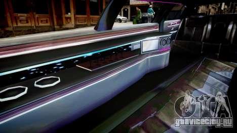 Lincoln Town Car Limousine 2010 для GTA 4 вид изнутри