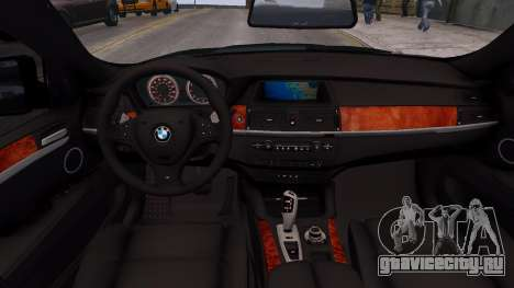 BMW X6M by DesertFox v.1.0 для GTA 4 вид изнутри