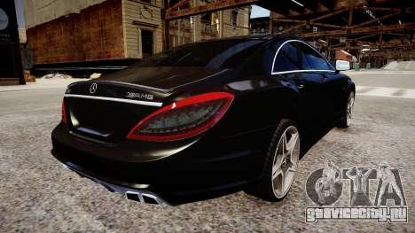 Mercedes-Benz CLS 6.3 AMG'12 для GTA 4 вид сзади слева