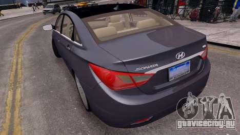 Hyundai Sonata 2011 для GTA 4 вид сзади слева