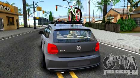 Volkswagen Polo STANCE для GTA San Andreas вид сзади слева