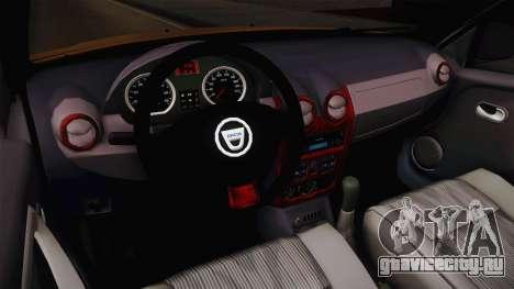 Dacia Duster для GTA San Andreas вид изнутри