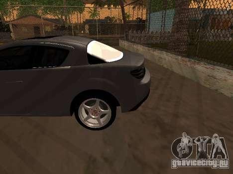 Mazda RX-8 для GTA San Andreas вид снизу