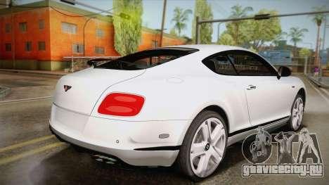 Bentley Continental GTV8S для GTA San Andreas вид слева