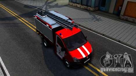 Газель NEXT Пожарная для GTA San Andreas вид справа