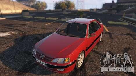 Peugeot Pars для GTA 5 вид сзади