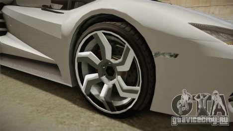 GTA 5 Pegassi Tempesta для GTA San Andreas вид сзади
