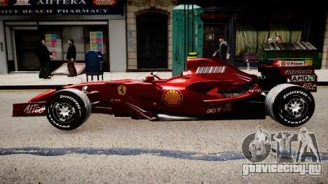 Formula 1 - LaFerrari F2007 для GTA 4 вид слева