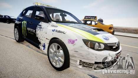 Subaru Impreza WRX STi K.Block для GTA 4 вид справа