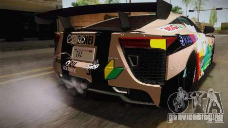 Lexus LFA Felix The Brown of ReZero для GTA San Andreas вид снизу
