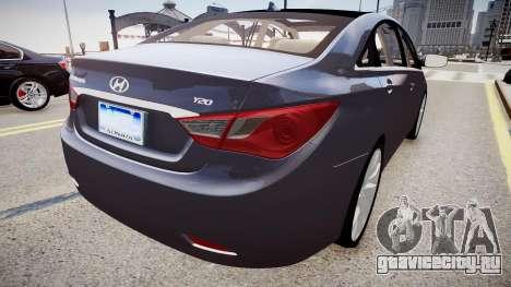 Hyundai Sonata v2 2011 для GTA 4 вид справа