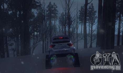 Subaru Impreza WRX STi Snow для GTA San Andreas вид изнутри