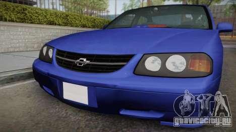 Chevrolet Impala 2004 Detective Unmarked для GTA San Andreas вид справа