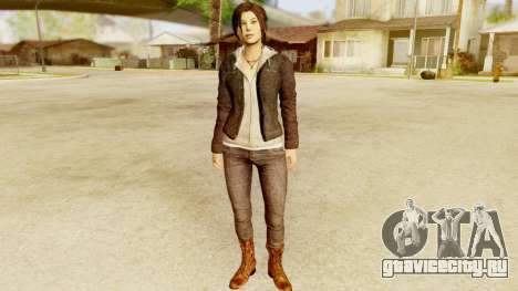 Rise of the Tomb Raider - Lara Leather Jacket для GTA San Andreas