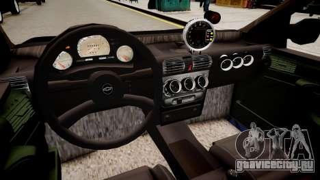 Chevrolet Corsa Hatch для GTA 4 вид изнутри