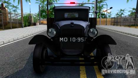 ГАЗ-ММ 1940 для GTA San Andreas вид изнутри