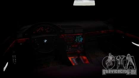 BMW 750iL E38 для GTA 4 вид изнутри
