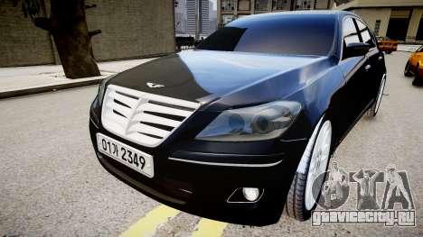 Hyundai Genesis 2008 для GTA 4 вид справа