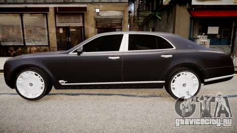 Bentley Mulsanne 2014 для GTA 4 вид справа