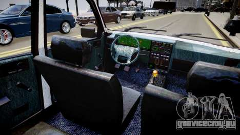 Dacia 1310 L для GTA 4 вид изнутри
