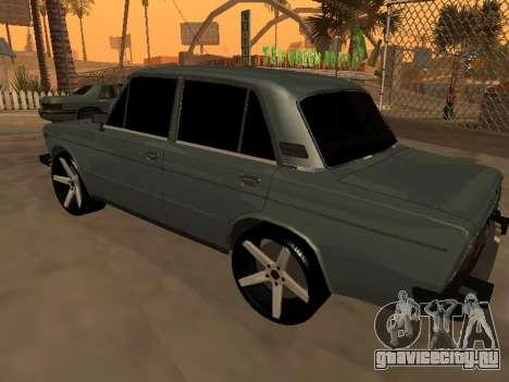 VAZ 2106 Armenian для GTA San Andreas вид изнутри