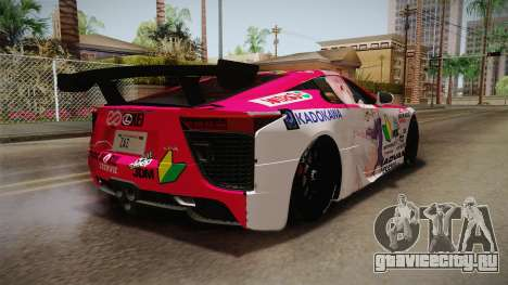 Lexus LFA Ram The Red of ReZero для GTA San Andreas вид слева