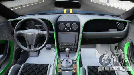 Bentley Continental GT3-R 2015 для GTA San Andreas вид изнутри