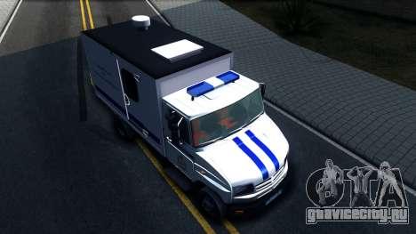 ЗИЛ 5301 Бычок Автозак для GTA San Andreas вид справа