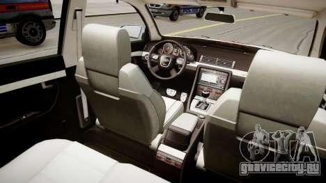Hungarian Audi Police Car для GTA 4 вид изнутри