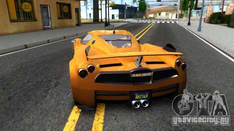 GTA V Progen Anubis для GTA San Andreas вид сзади слева