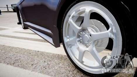 Mitsubishi Lancer Evo X для GTA 4 вид сзади