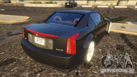 Cadillac XLR-V для GTA 5 вид сзади слева