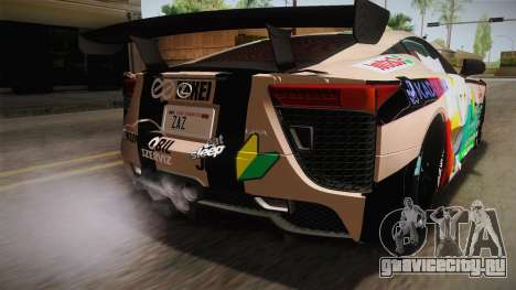 Lexus LFA Felix The Brown of ReZero для GTA San Andreas вид сверху