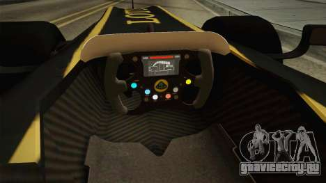 F1 Lotus T125 2011 v3 для GTA San Andreas вид изнутри