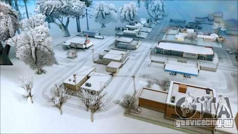 Новый зимний мод для GTA San Andreas