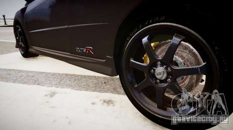 Honda Civic Type R Mugen '2010 v1.5 для GTA 4 вид сзади