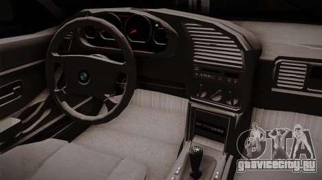 BMW 320i E36 для GTA San Andreas вид изнутри