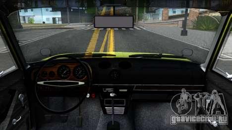 BАЗ 2106 для GTA San Andreas вид изнутри
