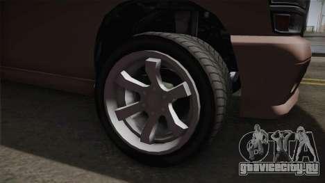 GTA 5 Bravado Bison IVF для GTA San Andreas вид сзади