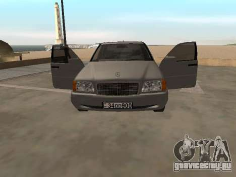 Mercedes-Benz C180 Armenian для GTA San Andreas вид сзади