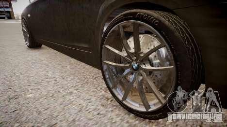 BMW 550i F10 v2 для GTA 4 вид сзади