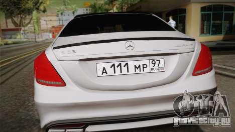 Mercedes-Benz S63 AMG W222 для GTA San Andreas вид справа