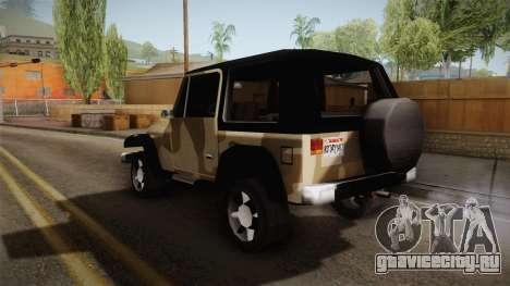 GTA 5 Crusader Mesa для GTA San Andreas вид справа