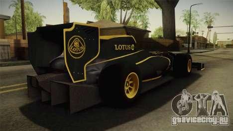 F1 Lotus T125 2011 v3 для GTA San Andreas вид слева
