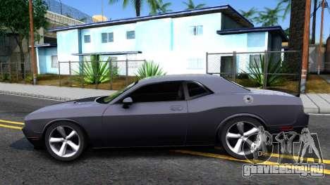 Dodge Challenger Unmarked 2010 для GTA San Andreas вид слева